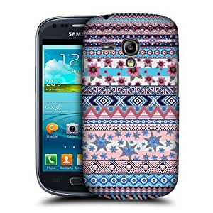 Blue And Pink Floral Aztec Case For Samsung Galaxy S3 Iii Mini I8190
