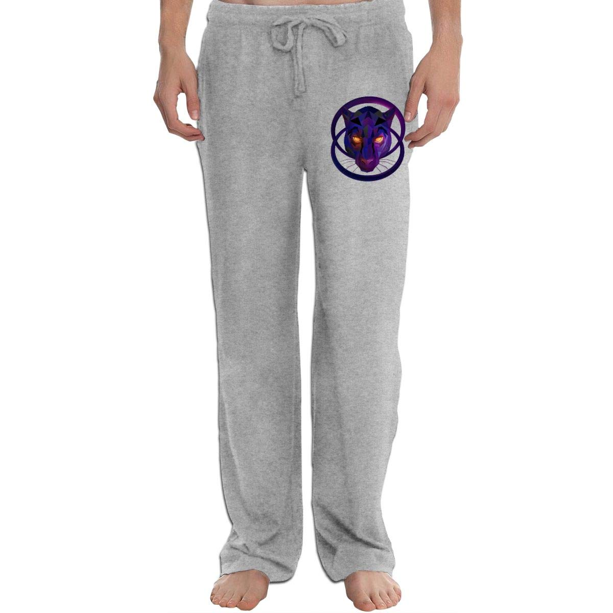 Wolf Facet Mens Sweatpants Extra Long CottonSleep Pants for Mans