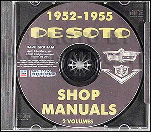 1952-1955 De Soto Repair Shop Manual on ()