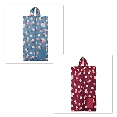 2 Pcs Portable Travel Shoe Storage Bags Waterproof Travel Shoes Bags with Zipper