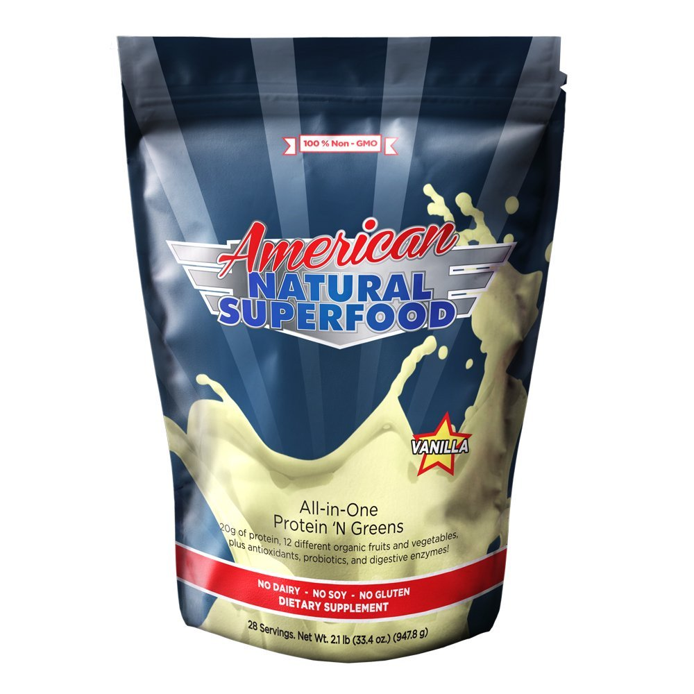 American Natural Superfood - Protein and Greens 2lbs, 32 Oz, 28 Servings
