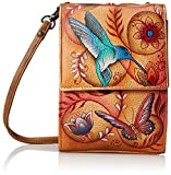 Anuschka Mini Sling Organizer FJTN, Flying Jewels Tan, One Size