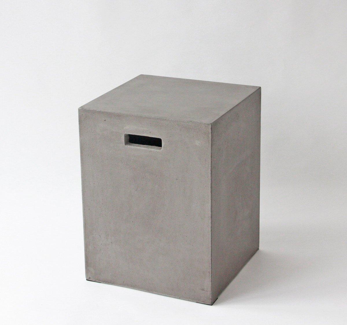 Amazon.de: Betonhocker Betonmöbel Beistelltisch Beton 35 x 35 x 46 ...