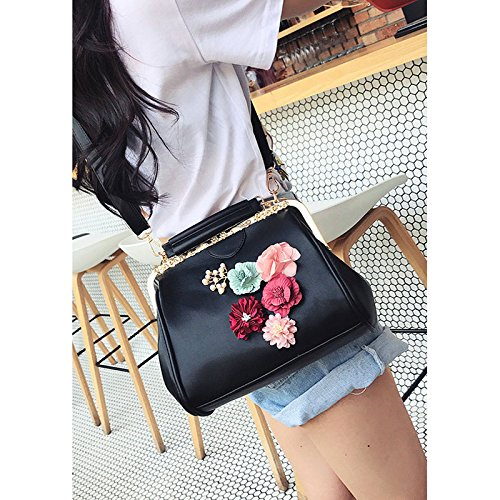 Ladies Pu Bag Totes Lock Satchel Pt8 Kiss Handbag Diamonds Bag Chains Appliques Abuyall Crossbag Minimalist Purse Shoulder Retro Leather qtgqTZ