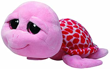 Ty - Shellby, peluche tortuga, 40 cm, color rosa (36810TY)