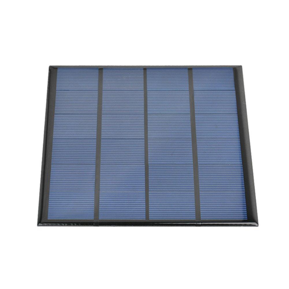 AIYIMA - 1 Panel Solar de Celdas solares polisilicon Placa 145 x 145 mm 3 W 12 V 250 mAh Panel Solar Juguetes DIY Proyecto