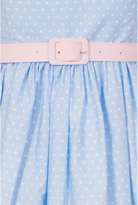 Hell Bunny Paname Vintage Retro 1950/'s Rockabilly Polka Dot Paris Border Skirt