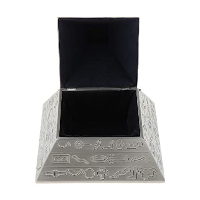bfebf367e2a Buy Elegant Carved Pyramid Jewelry Box Trinkets Retro Metal Storage Box  Crafts Online at Low Prices in India
