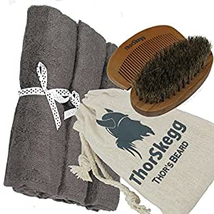 best beard grooming kit from thorskegg man sized 14 x 14 grey bamboo washcloths. Black Bedroom Furniture Sets. Home Design Ideas