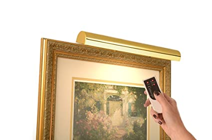 Concept Lighting 301L Cordless LED Remote Control Picture Light 18quot Polished Brass With