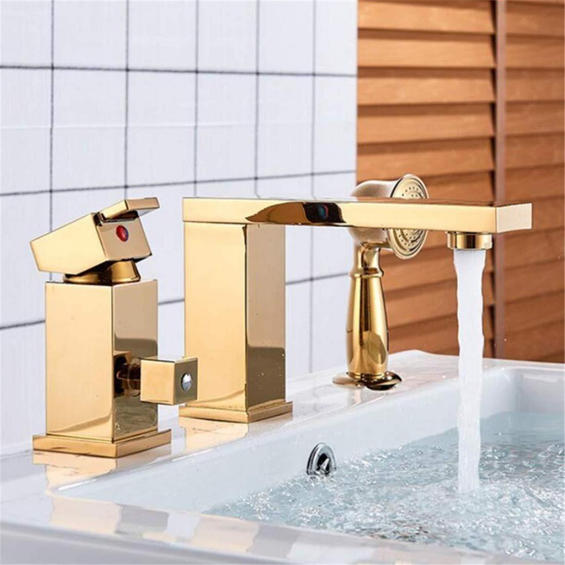 Retro Faucetwashbasin Mixer Solid Brass golden Chrome 4 color Polish 3Pcs Bathroom Faucet