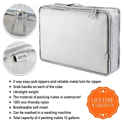 5 Set Packing Cubes - Travel Luggage Packing Organizers with Laundry Bag - Packing Cube by Isperi by Isperi (Image #1)