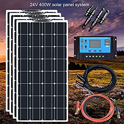 YAMEIJIA Boguang 24V 400w Flexible Solar Panel Mono with 20A comtroller Photovoltaic Cable Solar modul kit RV Boat Caravan Charging