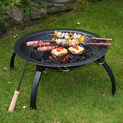 J-Foyers Extérieurs Et Braséros Brasier Extérieur Bowl Pliant Barbecue Réchaud Charbon Barbecue Poêle Brazier Grill Cheminées