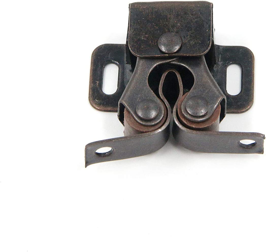 MTMTOOL Heavy Duty Red Bronze Double Roller Catch Door Latch for Cabinet Drawer Pack of 10
