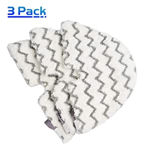 X Home Steam Mop Triangle Replacement Pads for Shark Steam Pocket Mop S3501 S3601 S3901 S3550 S3801 S4701 S2902 S3455K S4601 Washable Microfiber Steam Mop Cleaning Pads Dirt Grip Pads (3 pcs)