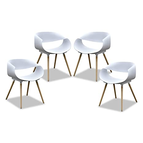 Wondrous Purenity New Aesthetic Style Streamline Design Modern Dining Arm Side Chairs Set Of 4 White Uwap Interior Chair Design Uwaporg