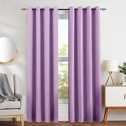 Curtains Girls Room Lilac Darkening Window Curtain Panels Kids Room 84  Inches Long Nursery Triple Weave