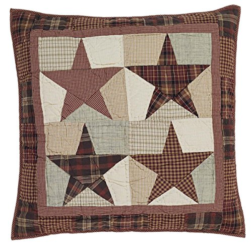 VHC Brands Abilene Star Euro Quilted Cotton Sham in Red ()
