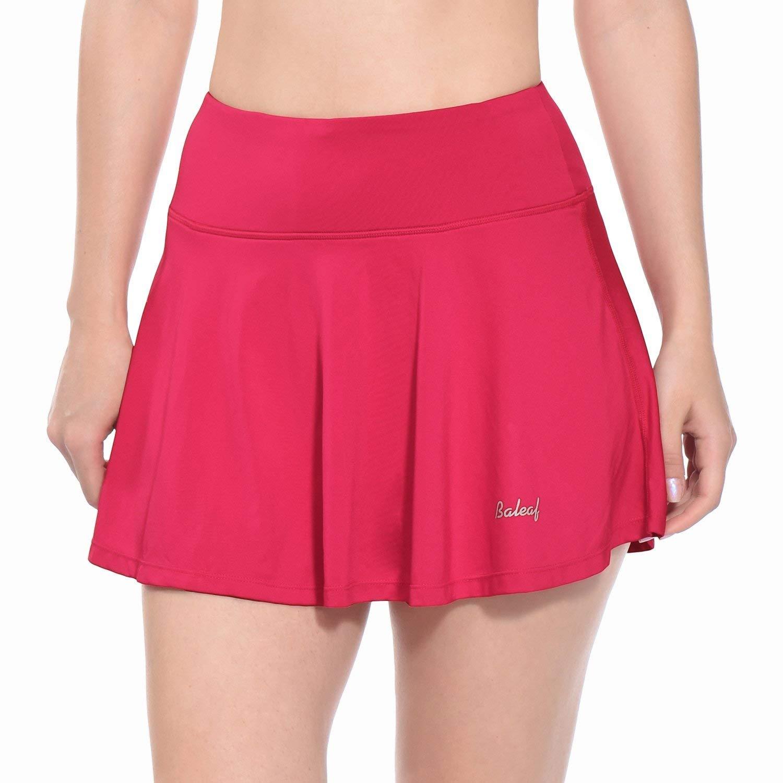 BALEAF Women's Athletic Golf Skirt Tennis Skort Pleated With Pockets Deep  Pink Size XL on Galleon Philippines