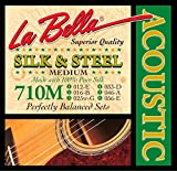 LaBella 710M Silk & Steel Medium Acoustic Guitar Strings