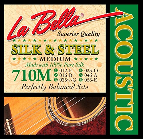 La Bella 710M Silk & Steel Acoustic Guitar Strings - ()