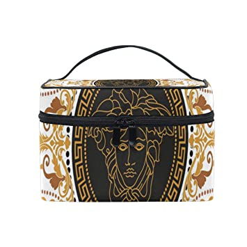 af756fdb83c Amazon.com : Travel Cosmetic Bag Amazing Versace Toiletry Makeup Bag Pouch  Tote Case Organizer Storage For Women Girls : Beauty