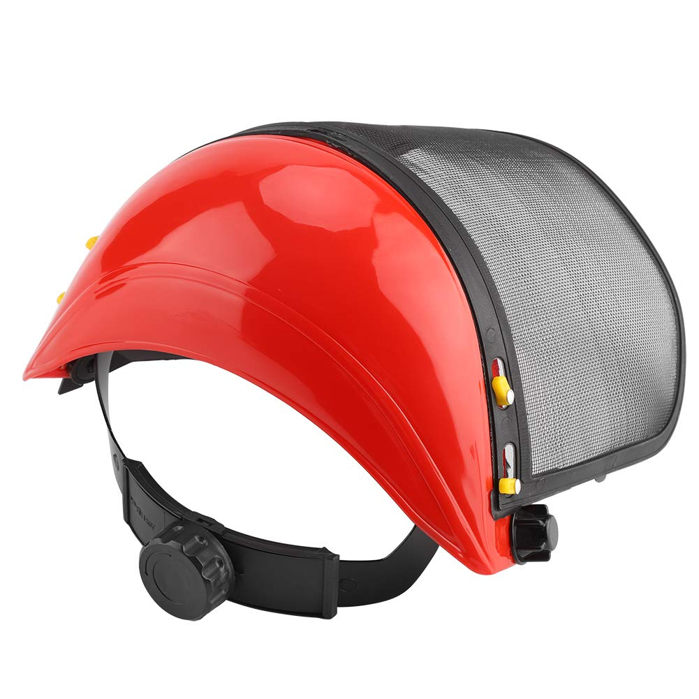 TOPINCN Forestry Safety Helmet Full Mesh Safety Face Mask Shield Screen Visor Hard Hat for Eye Face Protection Trimming & Logging Accessory