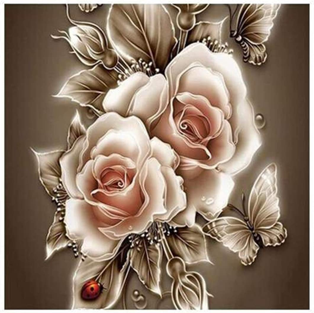 Beautiful rose 5D Diamond Painting Embroidery Cross Stitch Craft Kit Home Decor