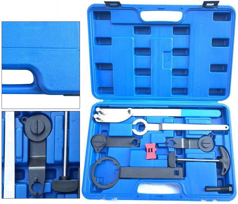 Berkalash Kit de courroie dent/ée pour moteur de r/églage de la courroie de distribution du moteur Outil de r/églage de la courroie dent/ée moteurs essence