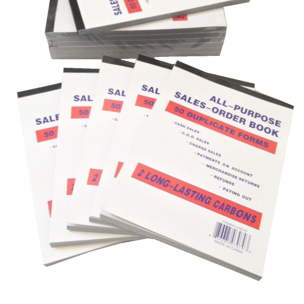 Newiparts/® Lot of 6pk Sales Order Book Receipt Book 5.5x8 50 Duplicate Forms Salesorder Wholesaler Price by Newiparts