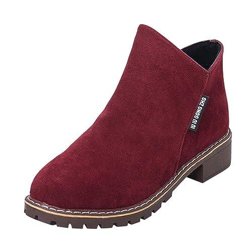 Logobeing Botas Mujer Invierno Botines Mujer Zapatos de Mujer Botines Cortos Martin Botas de Cuero Zapatillas de Deporte Moda para Mujer: Amazon.es: Zapatos ...