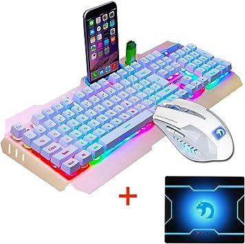 FELiCON Ratón de teclado combinado Con cable retroiluminado ...