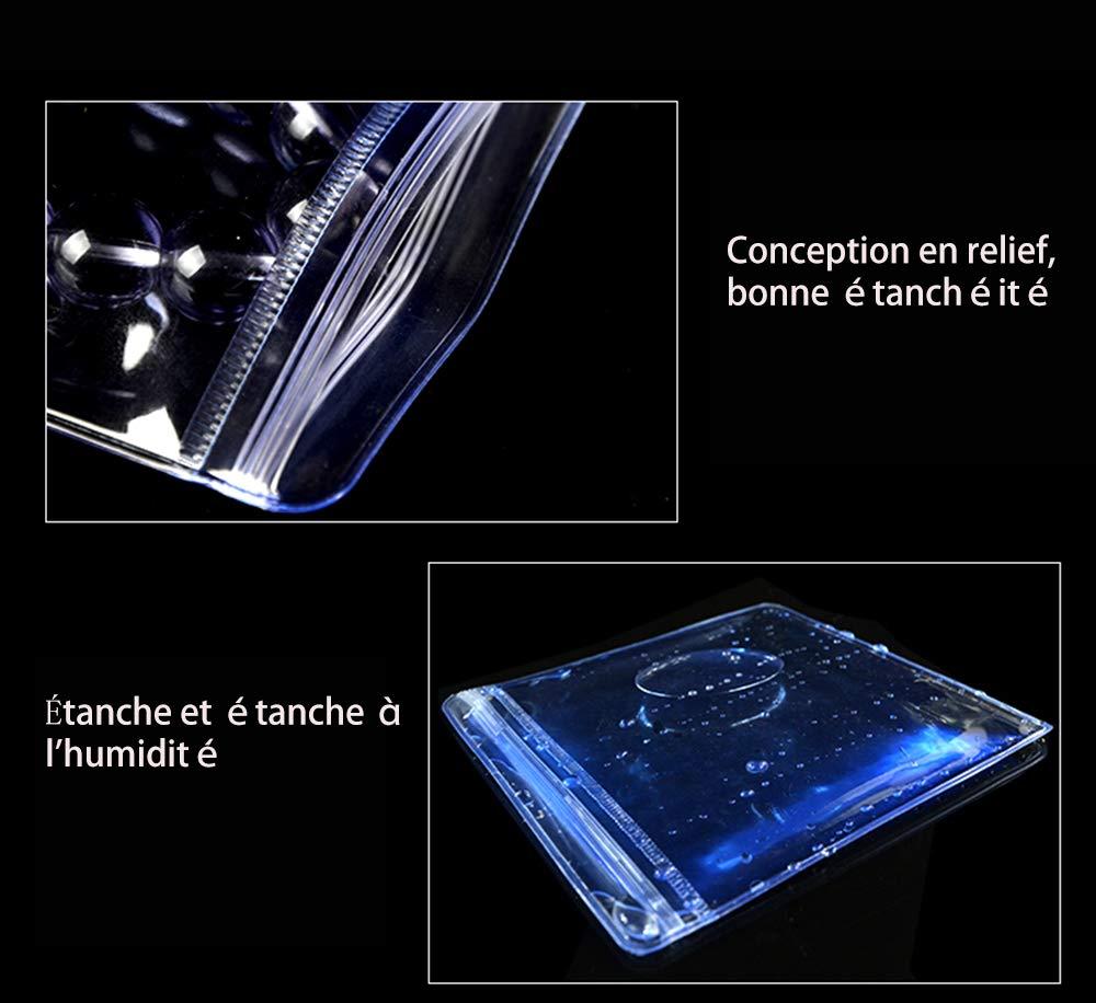 100Pcs Sachet Plastique Zip-50 Microns Transparent-Reutilisable 7 * 10cm