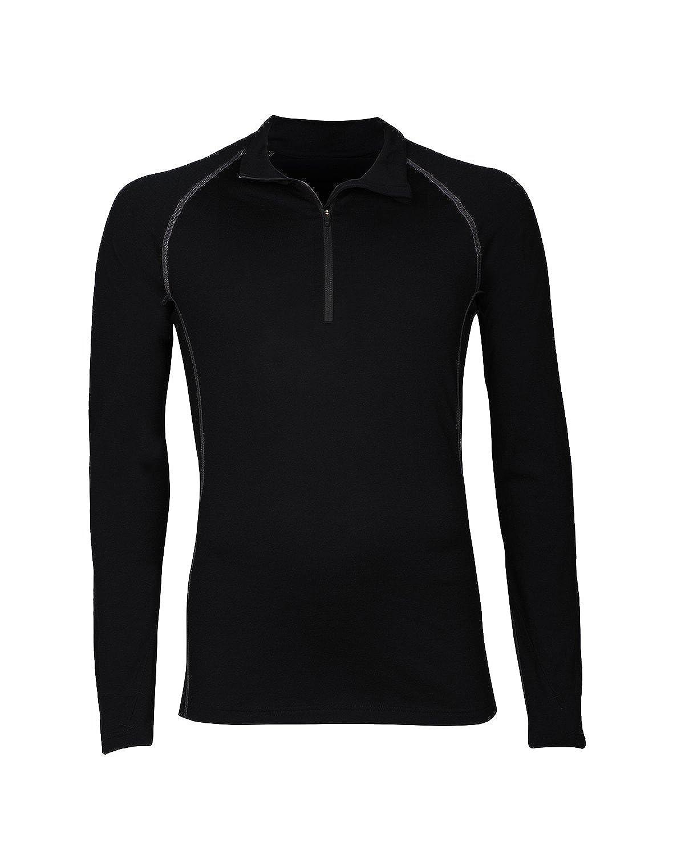 Dilling Langarmshirt mit Reißverschluss für Herren aus 100% Merinowolle