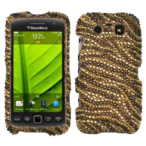 Asmyna BB9850HPCDM089NP Dazzling Luxurious Bling Case for BlackBerry Torch 9850 - 1 Pack - Retail Packaging - Tiger Skin