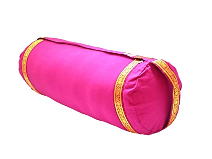 Amazon.com : Yoga Bolster - Magenta : Sports & Outdoors