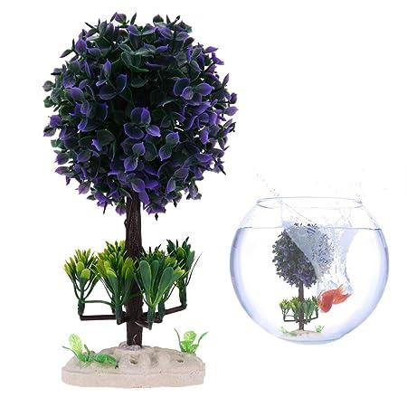 Domybest - Adornos artificiales para acuario, diseño de flores, césped y pecera: Amazon.es: Productos para mascotas