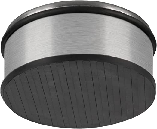 peso: 1,2 kg dimensione: 11 x 6 cm fermaporta di design in acciaio inox e gomma Goods /& Gadgets