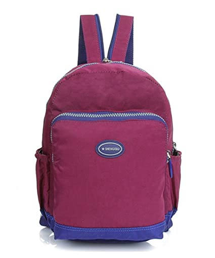 fa7be552b2 Tiny Chou Mini Waterproof Nylon Backpack Casual Lightweight Strong Daypack  (A Deep Purple)  Amazon.co.uk  Luggage