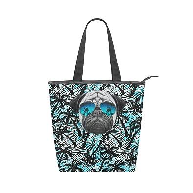 Amazon.com: Pug - Bolso de viaje con diseño de árbol de coco ...