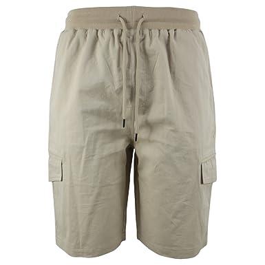 5bb104ad8c Leehanton Work Shorts for Men Elastic Waist Casual Loose Fit Cotton Summer Cargo  Shorts (30