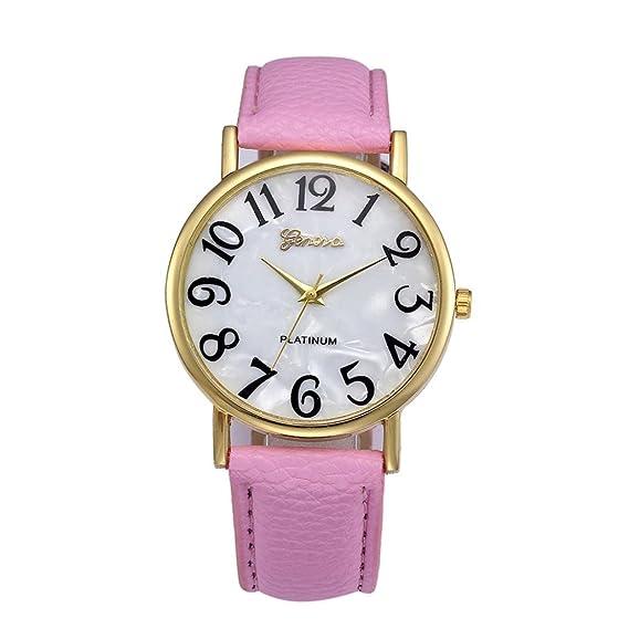 Amazon.com: Dressin Womens Men Quartz Watch,Fashion Casual Retro Digital Dial Analog Leather Band Wrist Watch,Geneva Watch (Black): Clothing