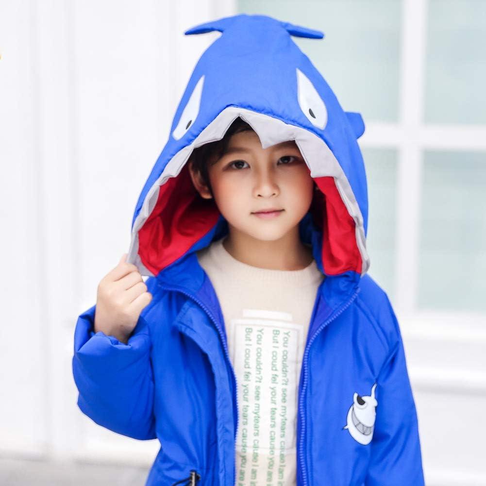 Long Shark Shape Hooded Down Jacket Winter Outwear Coats for Child Boys Blue 5-6 Years 120 KB1803