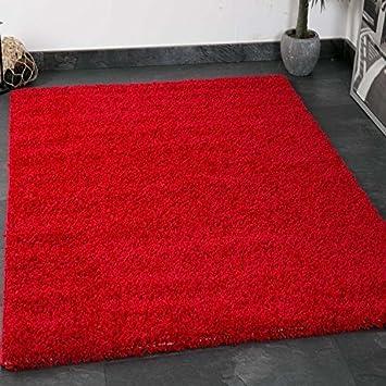 Vimoda Prime Shaggy Farbe Rot Teppich Hochflor Langflor Teppiche