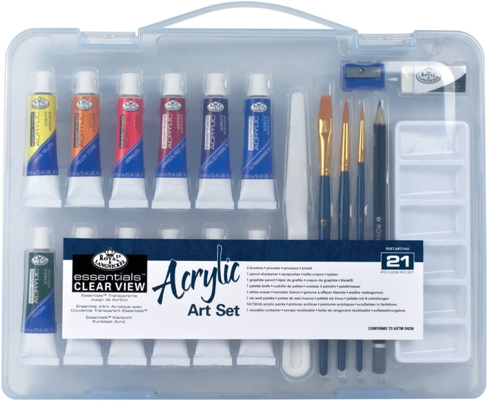 Royal /& Langnickel Essentials Clear View Acrylic Painting Set Small