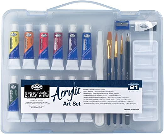 Royal & Langnickel Essentials - Juego de pintura acrílica (estuche ...