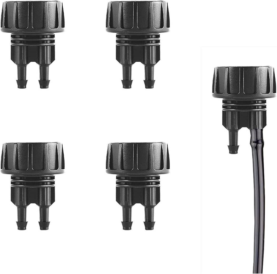 4Pcs Faucet to 1/4 Inch Drip Irrigation Tube Adapter 3/4