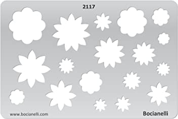 Plastic Stencil Template for Graphical Design Drawing Drafting Jewellery Making - Daisy Flower Flowers