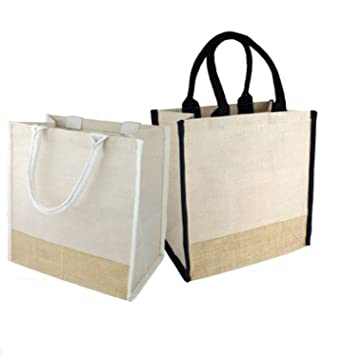 Fancy Jute Blend Women Tote Bags with Full Gusset and Stylish Thick Rope  Handles by BagzDepot c4dc2df386
